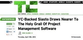Siasto in Techcrunch